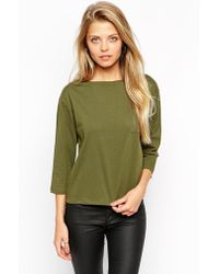 Asos Top With Long Sleeves And Pocket - Lyst