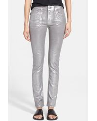 Zadig & Voltaire 'Eva' Metallic Coated Skinny Jeans - Lyst