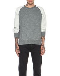 Rag & Bone Loopback Cotton-blend Sweatshirt - Lyst