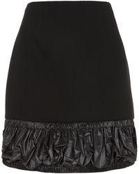 Christopher Kane Ruched Trim Mini Skirt - Lyst