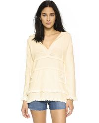 Tory Burch | Baja Hooded Tunic - New Ivory | Lyst