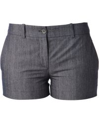 Michael Kors Gray Mini Shorts - Lyst