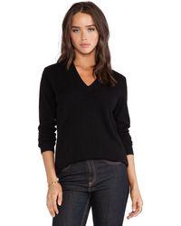 White + Warren Essential V Neck Sweater - Lyst