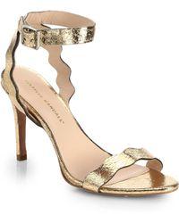 Loeffler Randall Amelia Mirrored Leather Sandals - Lyst