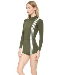 Cynthia Rowley | Athletic Stripe Wetsuit - Light Blue | Lyst