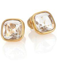 Michael Kors Brilliance Botanicals Cushion Stud Earrings/Goldtone gold - Lyst