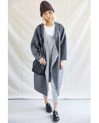 Urban Renewal | Recycled Fleece Asymmetrical Coat | Lyst