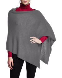 Eileen Fisher   Merino Wool Textured Poncho   Lyst