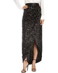 Rachel Zoe Black Woven Abbey Sequin Wrap Skirt - Lyst