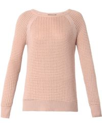 Vince Cashmere-Blend Thermal Sweater - Lyst