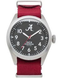 Jack Mason Brand - 'university Of Alabama Crimson Tide' Nato Strap Watch - Lyst