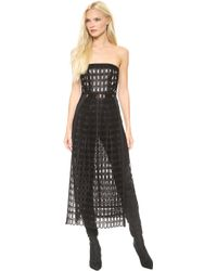 Zero + Maria Cornejo Zero Maria Cornejo Tabard Dress Black - Lyst