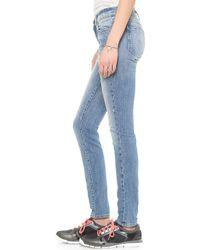 Wildfox - Marianne Mid Rise Skinny Jeans Fallen - Lyst