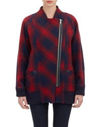 Boy by Band of Outsiders - Plaid Cocoon Coat - Lyst