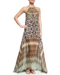 Camilla Sheer-Hem Printed Maxi Dress - Lyst