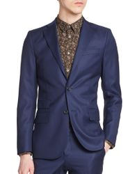 J.Lindeberg Notch Lapel Wool Sportcoat - Lyst