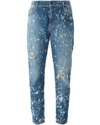 Amen - Embellished Tapered Jeans - Lyst
