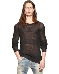 Diesel Fancy Knit Transparent Cotton Sweater - Lyst