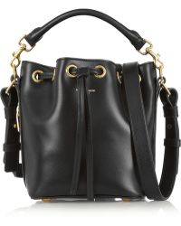 Saint Laurent Emmanuelle Small Leather Bucket Bag - Lyst