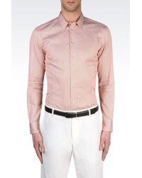 Armani Striped Twill Shirt - Lyst