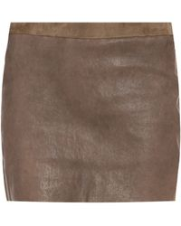 Isabel Marant Diamon Leather Skirt - Lyst