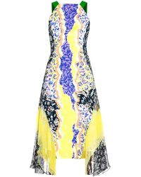 Peter Pilotto Glider Contrast-Panel Dress - Lyst