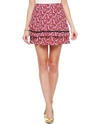 Juicy Couture | Marina Floral Mini Skirt | Lyst