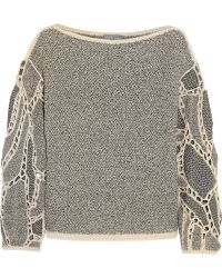 Maiyet - Crocheted Open-Knit Jumper - Lyst