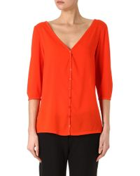 French Connection Classic Polly Plains Button-Up Top - Lyst