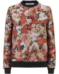 Givenchy - Floral Jacquard Sweatshirt - Lyst