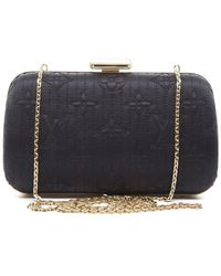 Louis Vuitton Preowned Black Motard Minaudiere Clutch Bag - Lyst