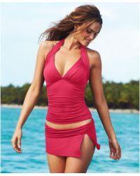 La Blanca Solid Banded Swim Skirt - Lyst