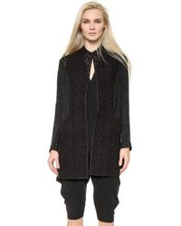 Zero + Maria Cornejo Block Lace Frock Coat - Black black - Lyst