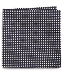 Armani Polka Dot Print Silk Pocket Square - Lyst