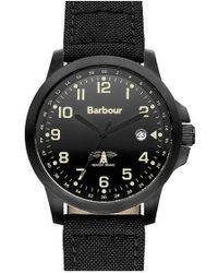 Barbour - 'heritage' Fabric Strap Watch - Lyst