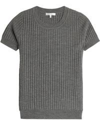 Paule Ka Knitted Wool Top black - Lyst