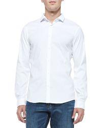 Michael Kors Slim-fit Stretch-poplin Shirt - Lyst