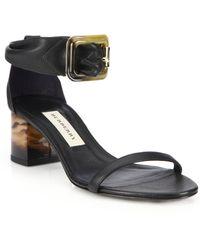 Burberry | Cashel Leather Marble-heeled Sandal | Lyst