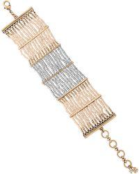Lucky Brand - Caseline Metallic Beaded Bracelet - Lyst