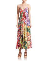 Polo Ralph Lauren Silk Hawaiian Maxi Dress - Lyst