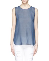 Vince Silk Layer Tank Top - Lyst