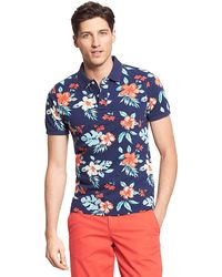 Tommy Hilfiger Slim Fit Flower Print Polo - Lyst