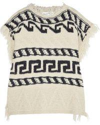 Etoile Isabel Marant Texas Knitted Poncho - Lyst