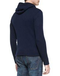 Ralph Lauren Black Label - Cashmere Hooded Sweater - Lyst