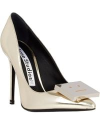 Acne Studios Metallic Alivia Pumps - Lyst