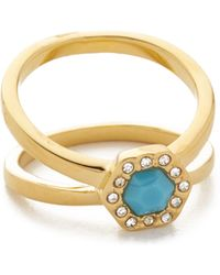 Rebecca Minkoff - Pave Ring - Lyst