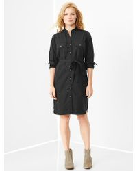 Gap Poplin Utility Shirtdress - Lyst