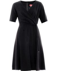 Max Mara Studio Black Pietra Dress - Lyst