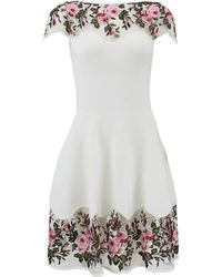 Blumarine Floral Dress with Macrame Detail - Lyst