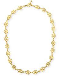 Eli Jewels - Aegean 18k Diamond Cross-link Necklace - Lyst